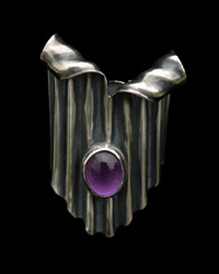 Sterling Silver Brooch with Amethyst