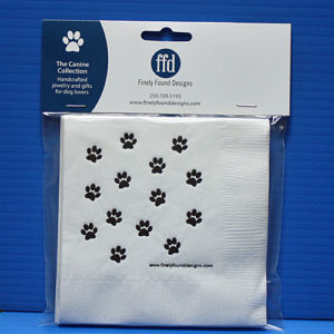 Dog Paw Paper Napkins