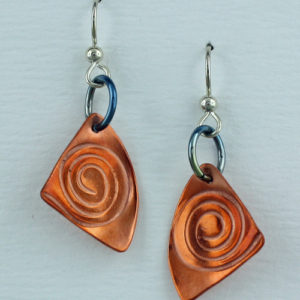 Handcrafted Copper Spiral Earrings