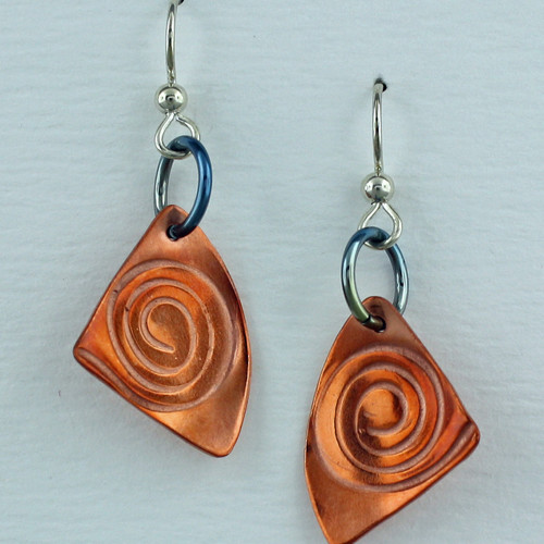 Handmade Copper Spiral Earrings – Finely Found Designs