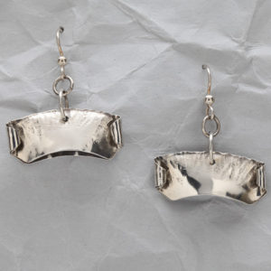 Handcrafted Sterling Silver Modern Pod Earrings