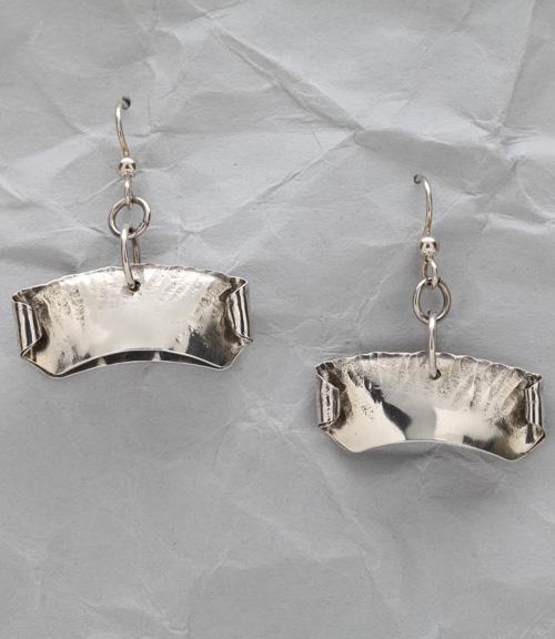 Handcrafted Sterling Silver Modern Pod Earrings