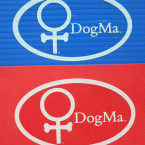 Two DogMa Stickers