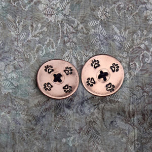 Dog Paw Copper Buttons