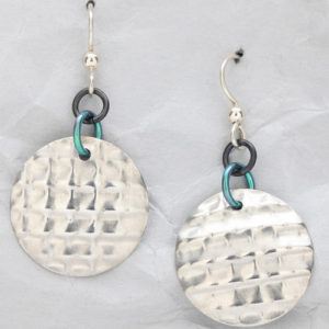 Handcrafted Sterling Silver Horizontal Dome Earrings