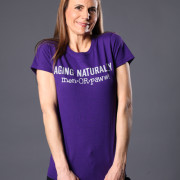 Aging Naturally men OR paws t-shirt – purple alternate view