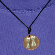 Double Dog Bone Pendant from Finely Found Designs