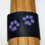 Handcrafted Felt & Leather Paw Cuff