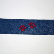 Handcrafted,Felted, Dog Paw Leather Bracelet