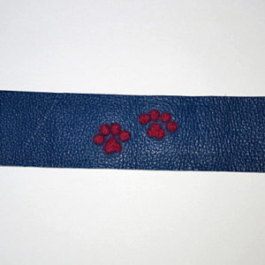 Handcrafted,Felted, Dog Paw Leather Bracelet