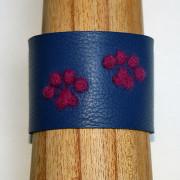 Handcrafted, Felted, Dog Paw Leather Bracelet