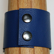 Back View of Handcrafted Paw Felt & Leather Cuff