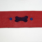 Handcrafted, Felted, Dog Bone Leather Bracelet