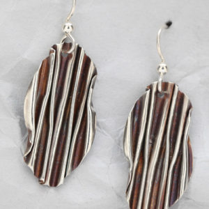 Handcrafted Sterling Silver Abstract Earrings