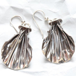 Handcrafted Sterling Silver Corrugated Earrings