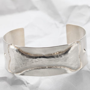 Handcrafted Sterling Silver Dog Bone Cuff