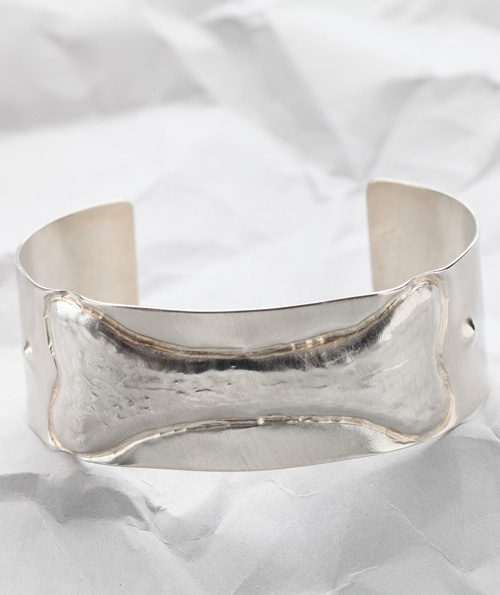 Handcrafted Sterling Silver Dog Bone Cuff