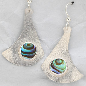 Handcrafted Sterling Silver Earrings with Paua Shells