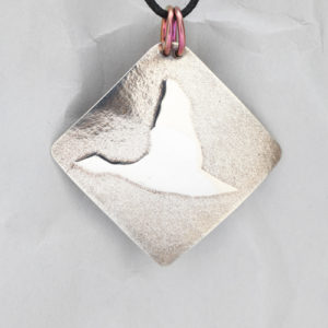 Handcrafted Sterling Silver Flying Goose Pendant