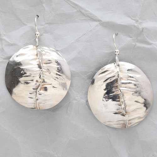 Handcrafted Sterling Silver Folded Earrings
