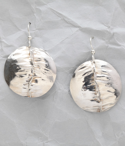 Handcrafted Sterling Silver Folded Earrings