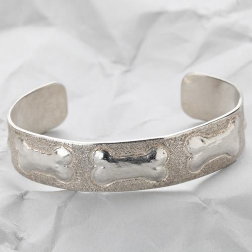 Handcrafted Sterling Silver Triple Bone Cuff