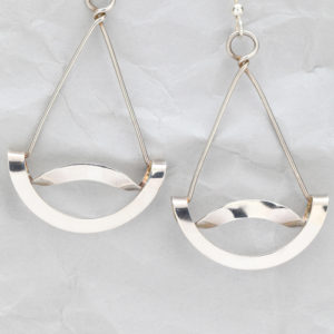Handcrafted Sterling Silver Wavy Earrings
