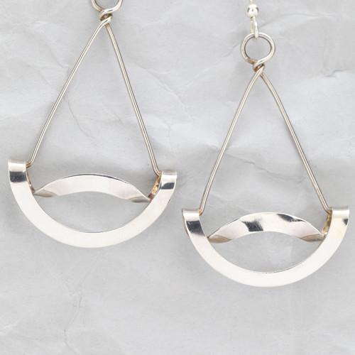 Handcrafted Sterling Silver Wavy Earrings