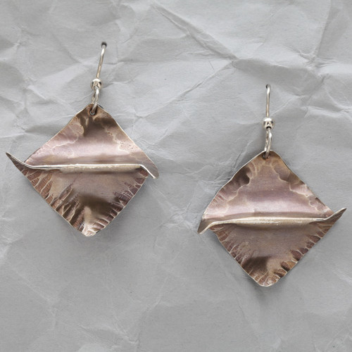 Handcrafted Sterling Silver Winged Earrings