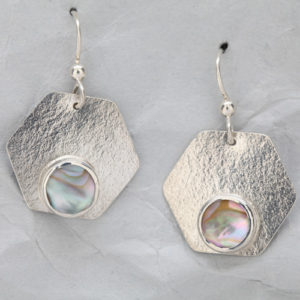 Handmade Sterling Silver Earrings with Abalone