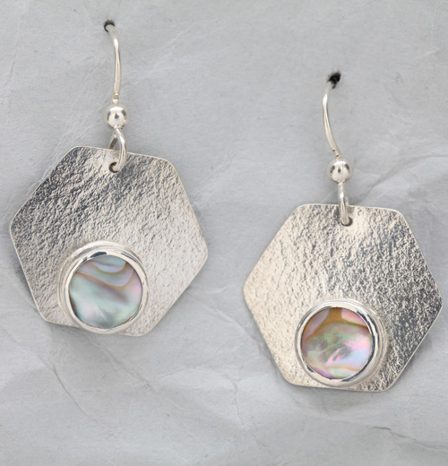 3fe8e8ea5 Handmade Sterling Silver Earrings with Abalone – Finely Found Designs