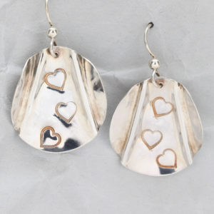 Handmade Sterling Silver Triple Heart Earrings