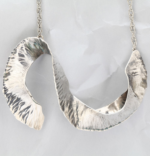 Handcrafted Sterling Silver Rolling Wave Pendant