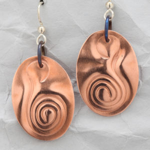 Handcrafted Copper Simply Spiral Earrings