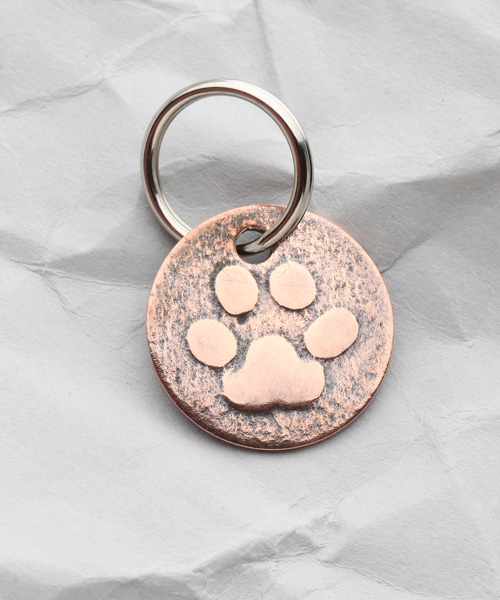 Copper Dog Paw Zipper Pull/Key Fob – Handmade