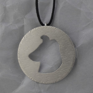 Smooth Collie Handmade Sterling Silver Pendant