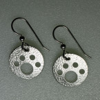 Handcrafted Argentium Sterling Silver Dog Paw Earrings