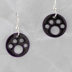 Handmade Dog Paw Earrings from Argentium Sterling Silver