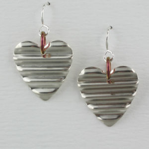 Handcrafted Sterling SiIver Heart Earrings