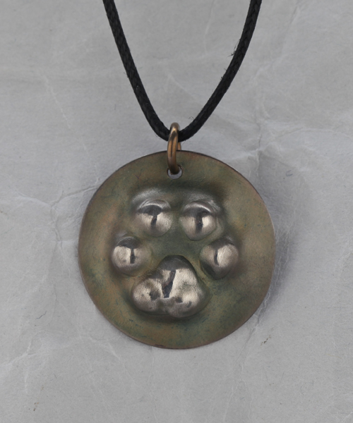 Handmade Sterling Silver Dog Paw Pendant